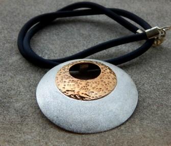 Ciondolo in argento con bronzo (cod. PN.AG.26)