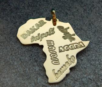 Pendente con nomi di città africane (cod. PN.OT.24)