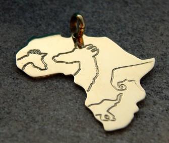 Ciondolo Africa con animali (cod. PN.OT.15)