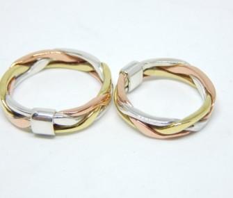 twisted gold wedding rings (Cod. FN.AU.04)