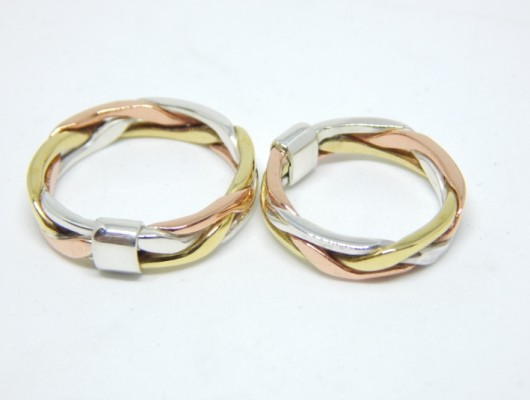 twisted gold wedding rings (Cod. FN.AU.04)