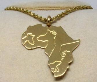Pendente Africa con animali (cod. PN.OT.15)