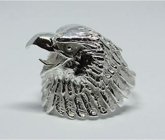Anello AQUILA in argento (cod. AH.34)