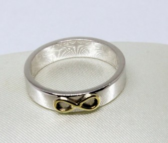 WEDDING RINGS IN GOLD WITH SYMBOL OF THE INFINITE (Cod. FN.AU.03)