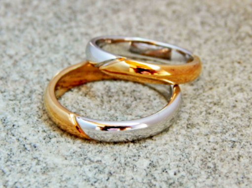 WEDDING RINGS IN TWO-COLORED GOLD (Cod. FN.AU.05)