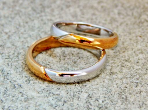 bagues de mariage en or en deux couleurs (Cod. FN.AU.05)