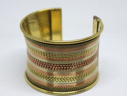 High-band brass ethnic bracelet (code BR.OT.25)