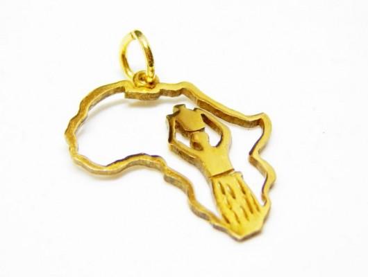 "Pendente oro 18k ""contorni Africa"" (codice PN.AU.03)"