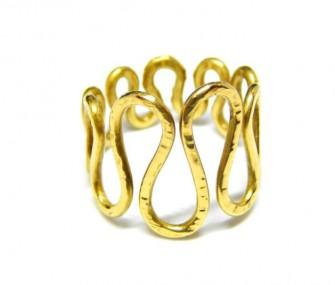 """Anello in oro """"a onda"""" (Cod. AN.AU.02)"""