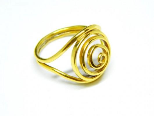 (Ita) Anello in oro con spirale (cod. AN.AU.03)