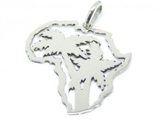 Pendente Africa in argento con alberi ritagliati (Cod. PN.AG.41)