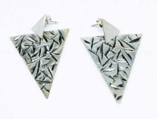 Silver triangle earrings (code OR.AG.62)