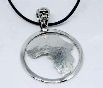 Pendente Africa a cerchio in argento (codice PN.AG.40)