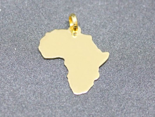 Pendentif Afrique en or 18k (code PN.AU.02)