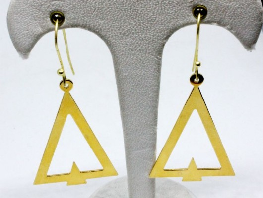 Brass triangle earrings (code OR.OT.51)