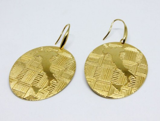 """Italy"" earrings with fabric engraving (code OR.OT.53)"