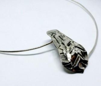 (Ita) Pendente in argento a forma di scudo (codice PN.AG.38)