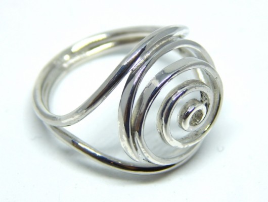 Silver ring with spiral circles (Cod. AN.AG.69)