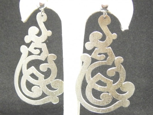 Silver earrings with openwork designs (cod.OR.AG.64)