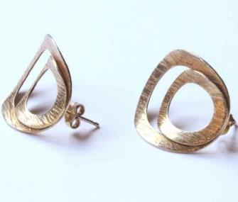 Boucles d'oreilles en laiton à deux cercles (code OR.OT.63)