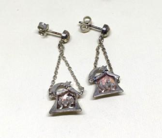 COD 102 – Orecchini con presepe in argento