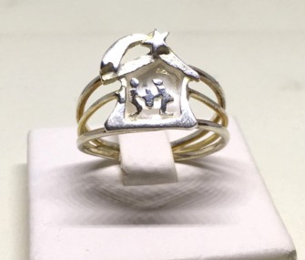 COD 103 – Anello con presepe in argento