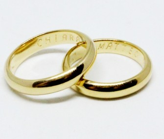 WEDDING RINGS IN CLASSIC GOLD (Cod. FN.AU.02)
