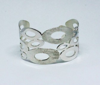 SILVER BRACELET WITH SATINED AND SMOOTH OVALS (COD. BR.AG.30)