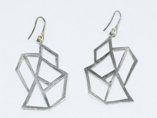 EARRINGS IN SILVER WITH IRREGULAR DRAWING (COD.OR.AG.73)