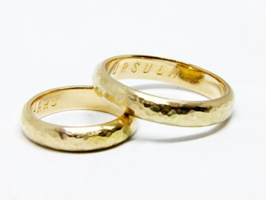 HAMMERED GOLD WEDDING RINGS (Cod. FN.AU.16)