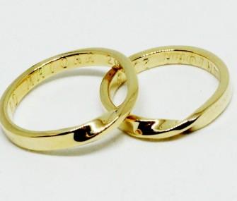 bagues de mariage en or retournées (Cod. FN.AU.17)