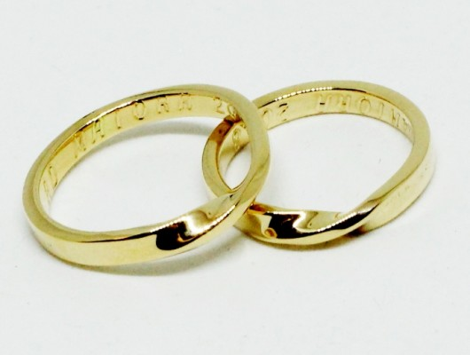 gold wedding rings returned (Cod. FN.AU.17)