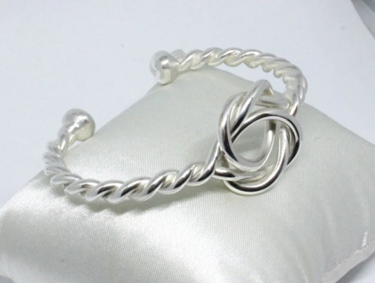 BRACELET IN SILVER WITH DOUBLE KNOT (COD. BR.AG.33)