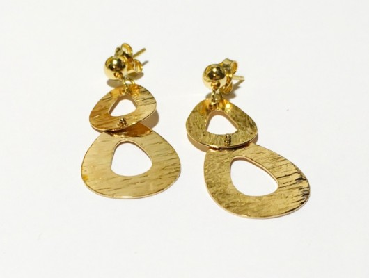 Gold earrings with double drop (Cod. OR.AU.01)