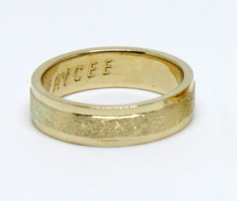 WEDDING RINGS IN GOLD WITH SATIN BAND (COD. FN.AU.30)