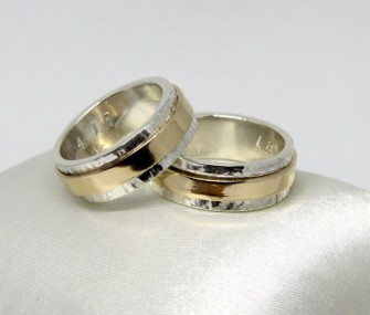 WEDDING RINGS WITH SLIDING BAND (COD. FN.AU.22)