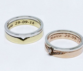 DOUBLE BAND GOLD WEDDING RINGS (COD. FN.AU.33)