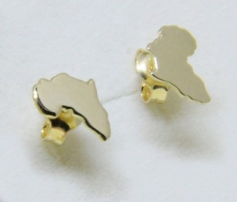 Africa gold earrings and smooth surface (Cod. OR.AU.02)