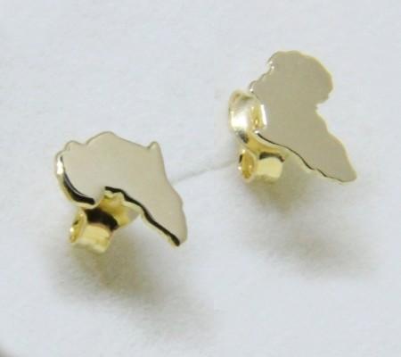 Boucles d'oreilles Afrique en or et surface lisse (Cod. OR.AU.02)