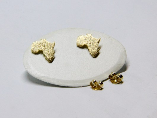 Africa gold earrings and satin surface (Cod. OR.AU.03)